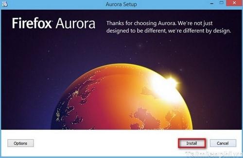 Cách cài trình duyệt Firefox Aurora (Metro) trên Windows 8.1