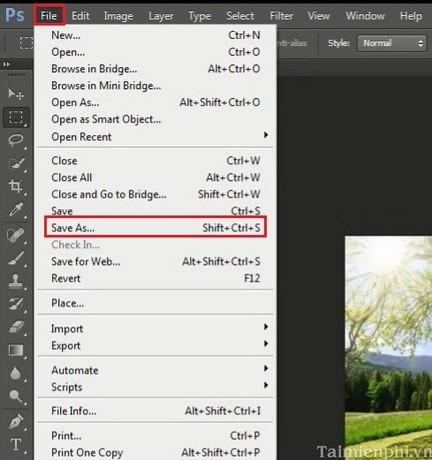 Giảm dung lượng ảnh bằng photoshop, cách giảm kích cỡ ảnh bằng Photoshop