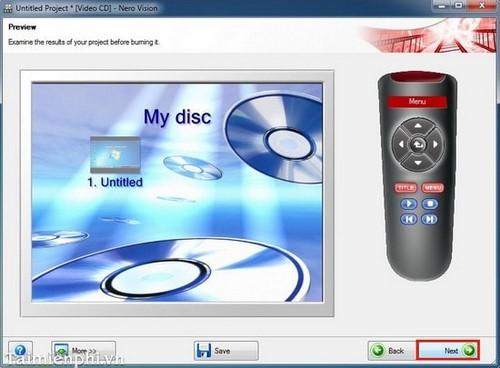 Hướng dẫn ghi đĩa hình DVD/CD chạy trên đầu đĩa bằng Nero 7