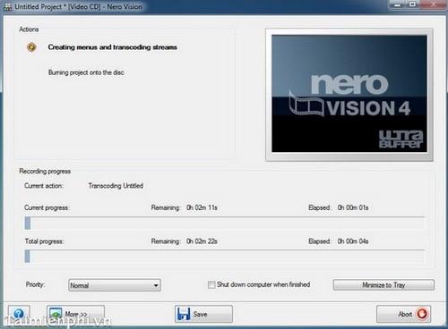Hướng dẫn ghi đĩa hình DVD/CD chạy trên đầu đĩa bằng Nero 9