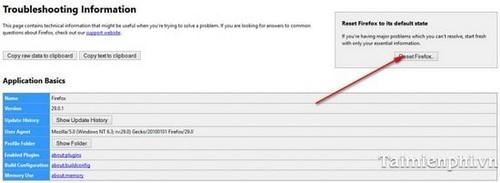 Khắc phục, xử lý sự cố trên trình duyệt Firefox