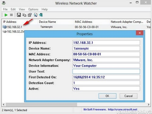 wireless network watcher application