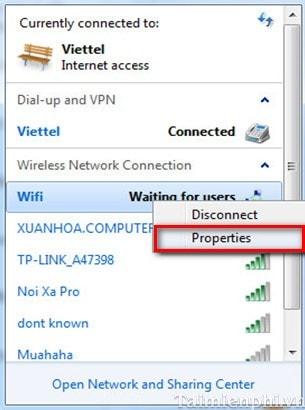 phat wifi tren windows 8