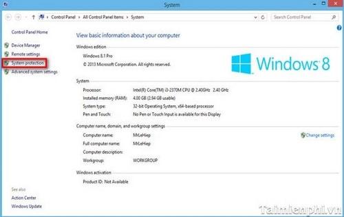 tao diem phuc hoi tren windows 8.1