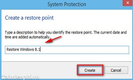 tao restore point windows 8.1