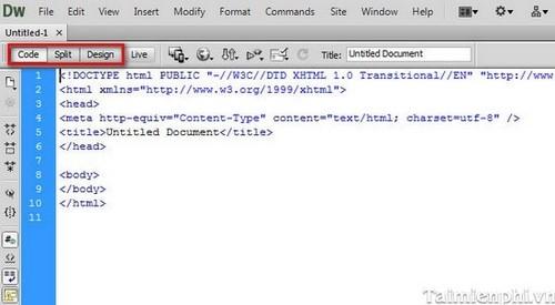 Cài và sử dụng Adobe dreamweaver thiết kế Web