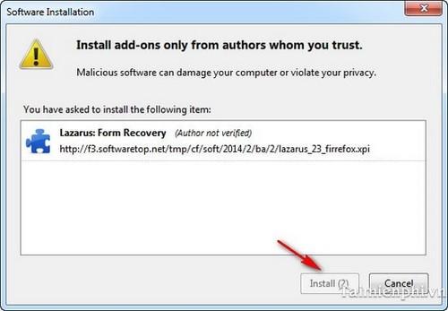 Firefox - Tìm lại văn bản soạn thảo bị mất bằng Lazarus