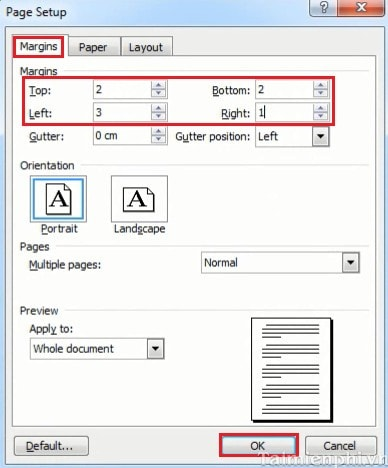 how to create margins in word