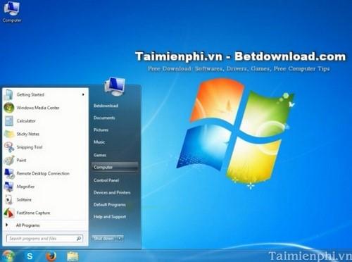Cách hiển thị biểu tượng My Computer trên màn hình Windows 7 3