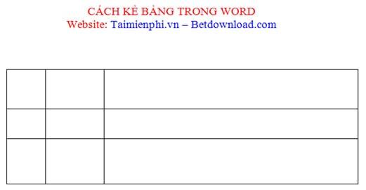 Cách kẻ bảng, chèn bảng biểu trong văn bản Word 2003, 2007, 2010, 2013, 2016 15