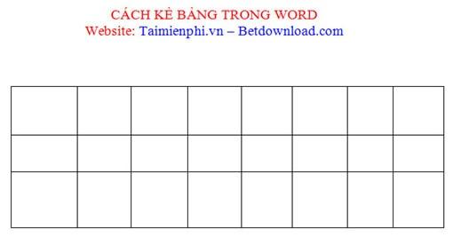 Cách kẻ bảng, chèn bảng biểu trong văn bản Word 2003, 2007, 2010, 2013, 2016 16