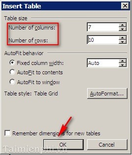 how to create rows in word