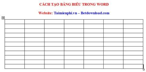 Cách kẻ bảng, chèn bảng biểu trong văn bản Word 2003, 2007, 2010, 2013, 2016 21