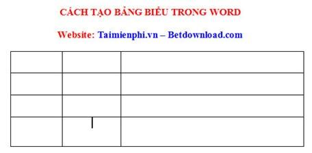 Cách kẻ bảng, chèn bảng biểu trong văn bản Word 2003, 2007, 2010, 2013, 2016 23