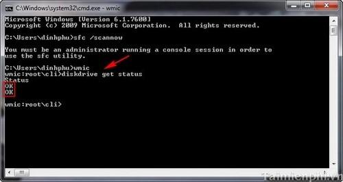 Kết quả hình ảnh cho Kiểm tra ổ cứng bằng lệnh CMD