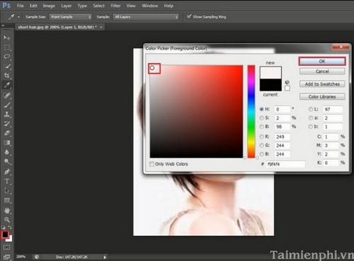 Đổi màu tóc bằng photoshop, nhuộm tóc bằng phần mềm Photoshop
