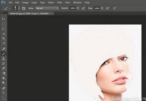cach doi mau toc trong photoshop