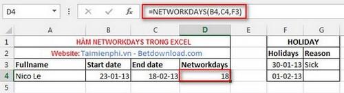 Các hàm ngày tháng trong Excel 5