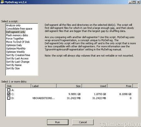 Top 5 phần mềm chống phân mảnh ổ cứng tốt nhất 3
