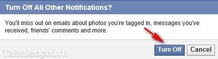 Facebook - Cách xóa bỏ nhận Email của Facebook