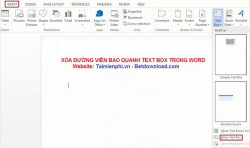 Word - Xóa đường viền bao quanh Text Box trong Word 11