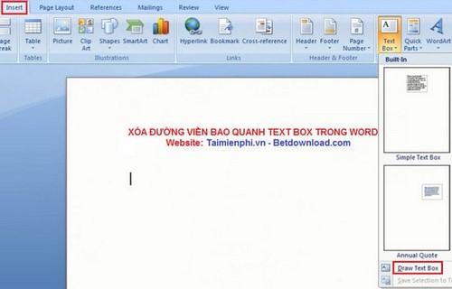 Word - Xóa đường viền bao quanh Text Box trong Word 7