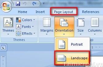 Cách xoay khổ giấy trong Word, quay ngang, dọc trang Word 9
