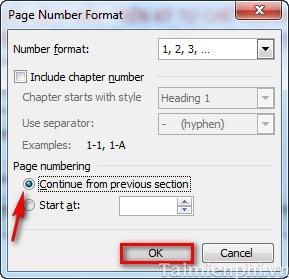 Word - Xử lý lỗi chèn số thứ tự trang nhưng không được 2