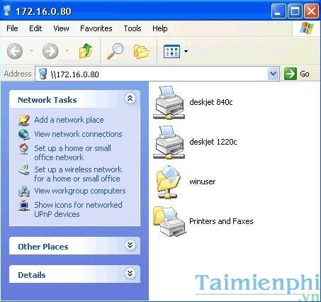 Hướng dẫn chia sẻ máy in trong mạng LAN windows 10, 7, XP 32