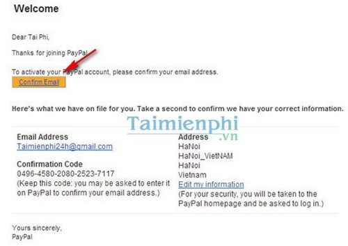 Registration instructions and verify Paypal account