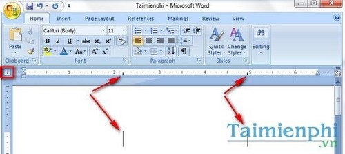 how to set tabs on word