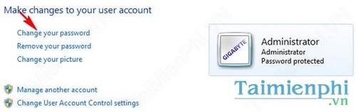 Cách đổi mật khẩu máy tính tài khoản người dùng Windows