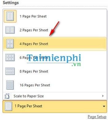Word - Cách in nhiều trang trên một tờ giấy trong Word 2010 3