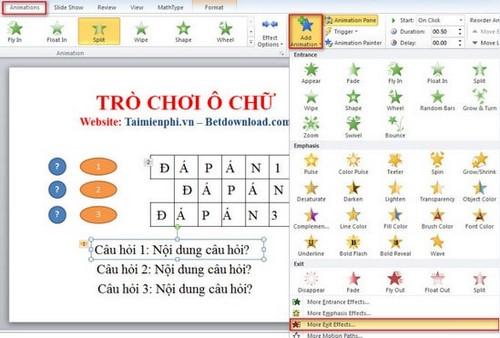 [TaiMienPhi.Vn] Hướng dẫn làm trò chơi ô chữ trong PowerPoint