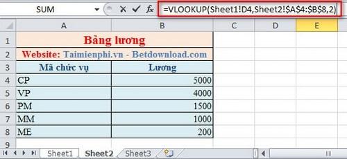 Lọc dữ liệu giữa các Sheet trong Excel 5