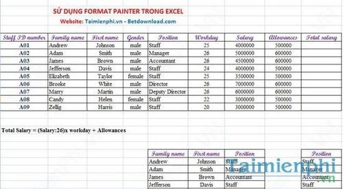 Cách sử dụng Format Painter trong Word, Excel 6