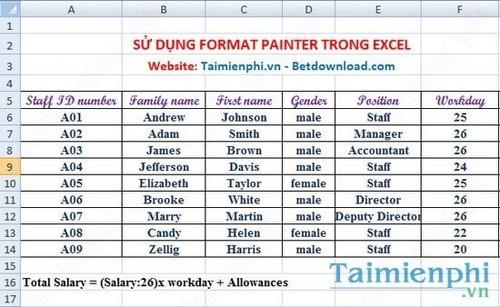 Cách sử dụng Format Painter trong Word, Excel 7