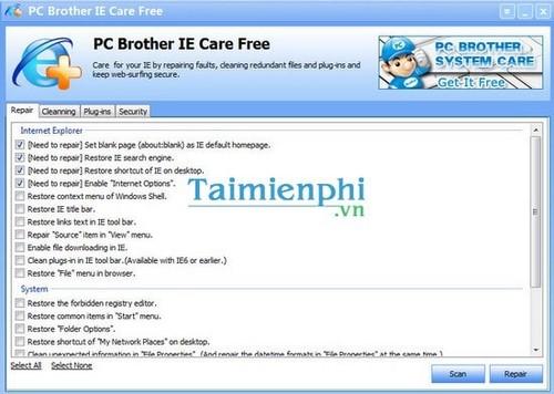 Tăng tốc cho trình duyệt Internet Explorer (IE)