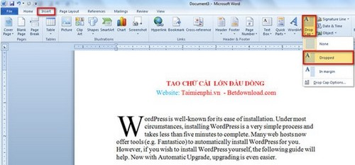Creating large letters at the top of the line in word documents word creating large letters at the top of the line in word documents spiritdancerdesigns Gallery