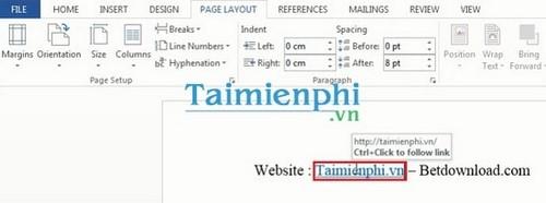 Cách tạo liên kết Hyperlink trong văn bản Word 10