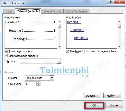 Word create a table of contents in word 2010 for Table of contents template word 2010