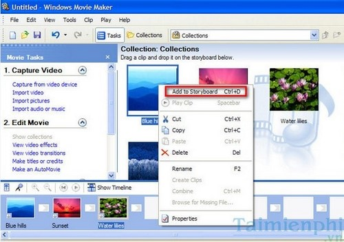 Download Windows Live Movie Maker - Làm video từ ảnh có sẵn trên PC -t