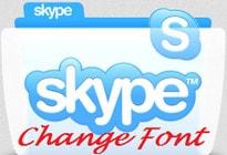 doi font chu skype