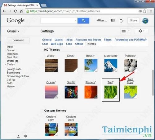 Đổi giao diện gmail, thay theme Gmail mới