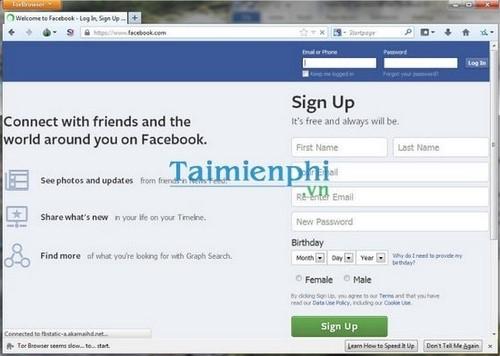 Thêm một lựa chọn để vào Facebook khi bị chặn