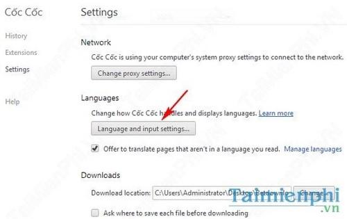 Đổi ngôn ngữ Cốc Cốc, thay đổi ngôn ngữ trình duyệt CocCoc