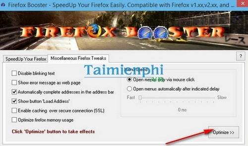 Tổng hợp các phương án tối ưu trình duyệt Firefox