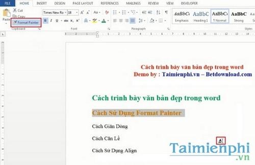 trinh bay word chua dep