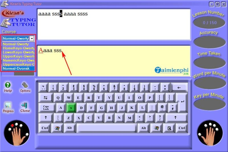 How to use and use kiran s typing tutor practice 10 delicious 12