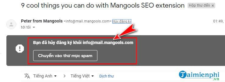 High optical link on Gmail 4